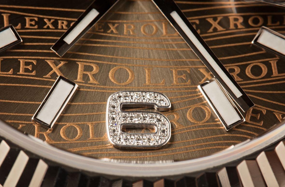 Diamond Rolex Hour Marker