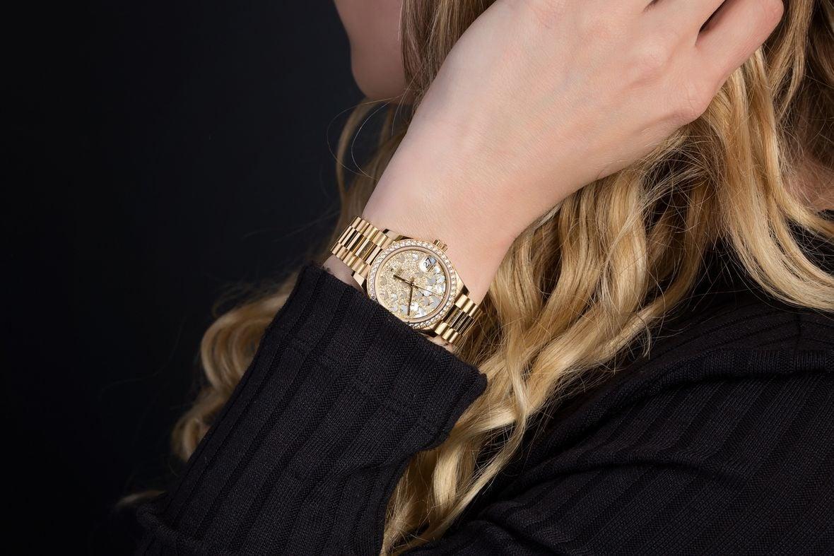 Diamond Rolex Lady-President Watch