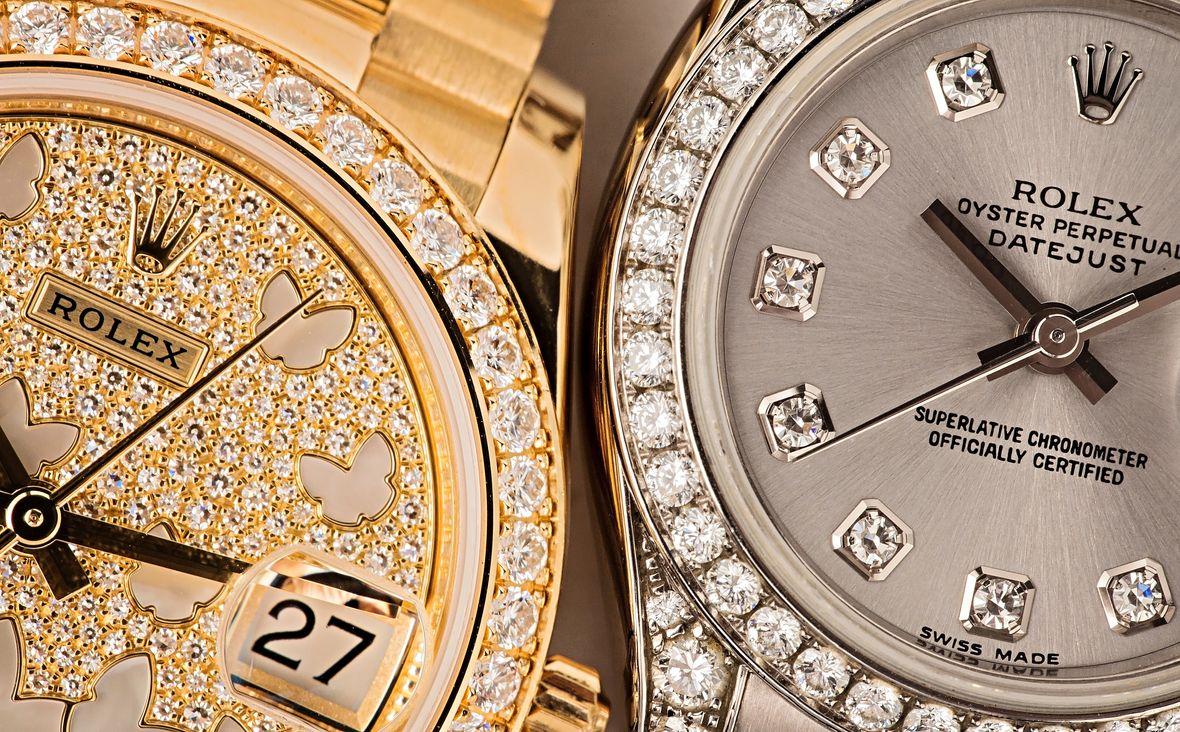 Diamond Rolex Iced Out Watch
