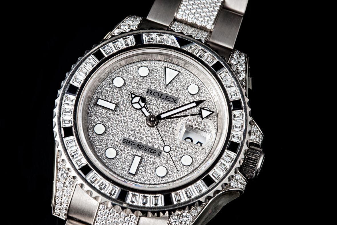 Iced Out Rolex GMT-Master Watch