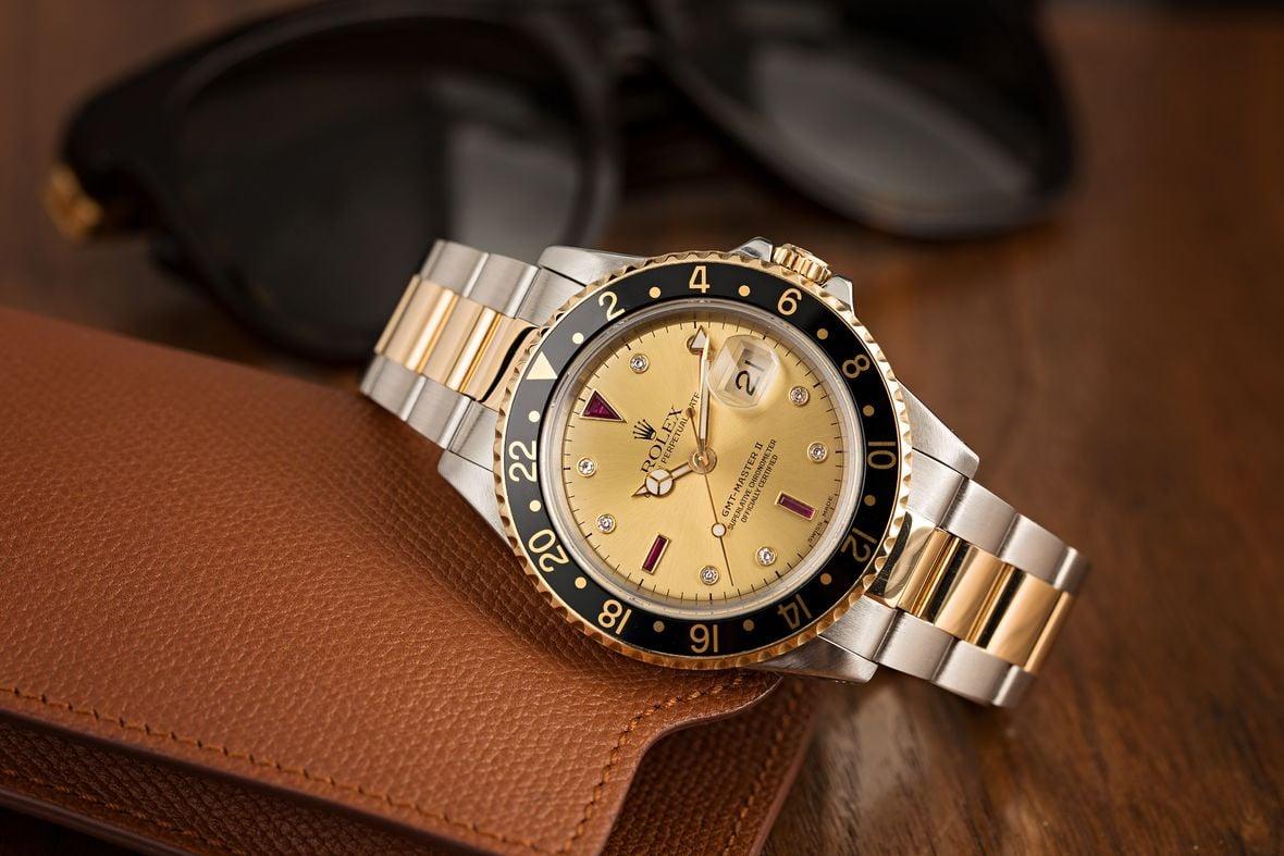 Rolex GMT-Master II 16713 Serti Dial Diamonds and Ruby
