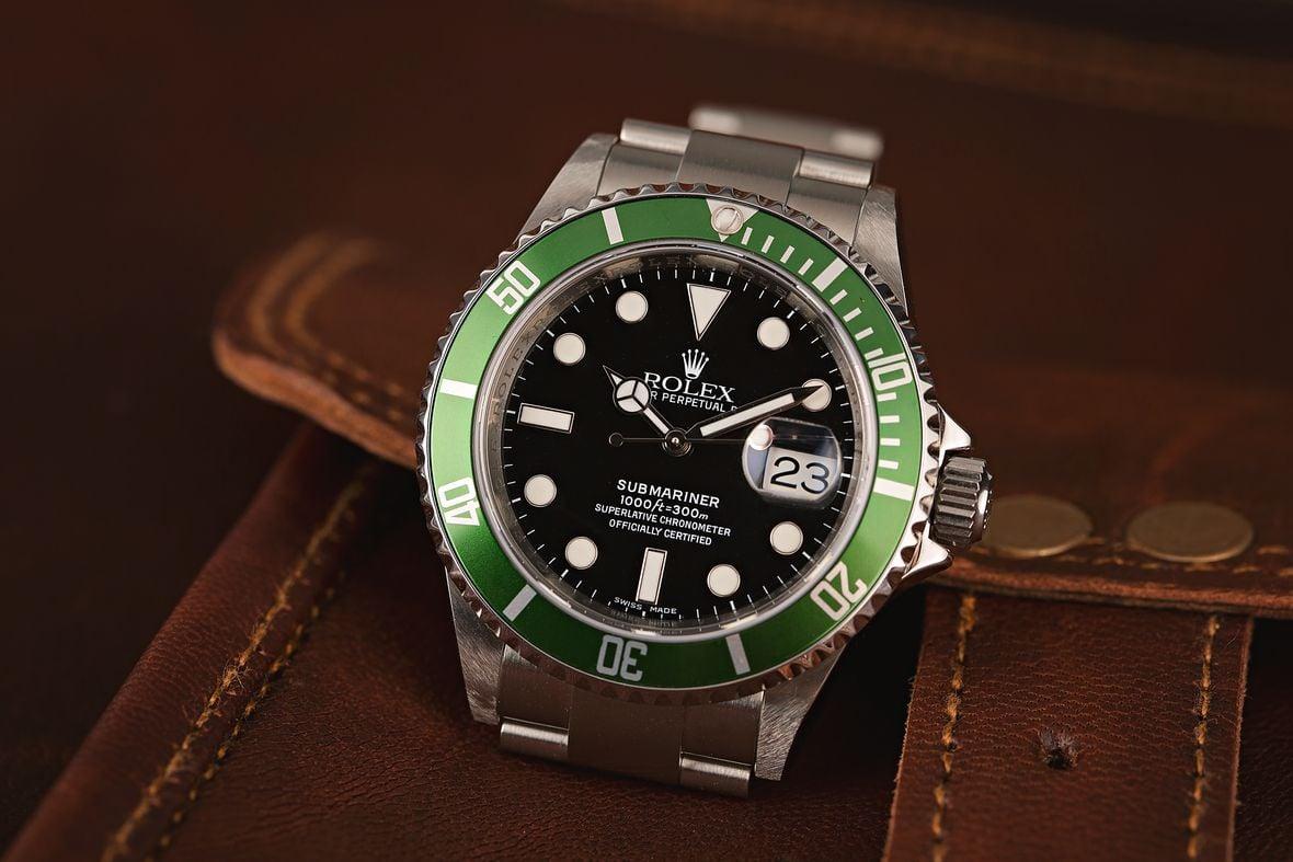 Green Rolex Submariner 16610LV Kermit