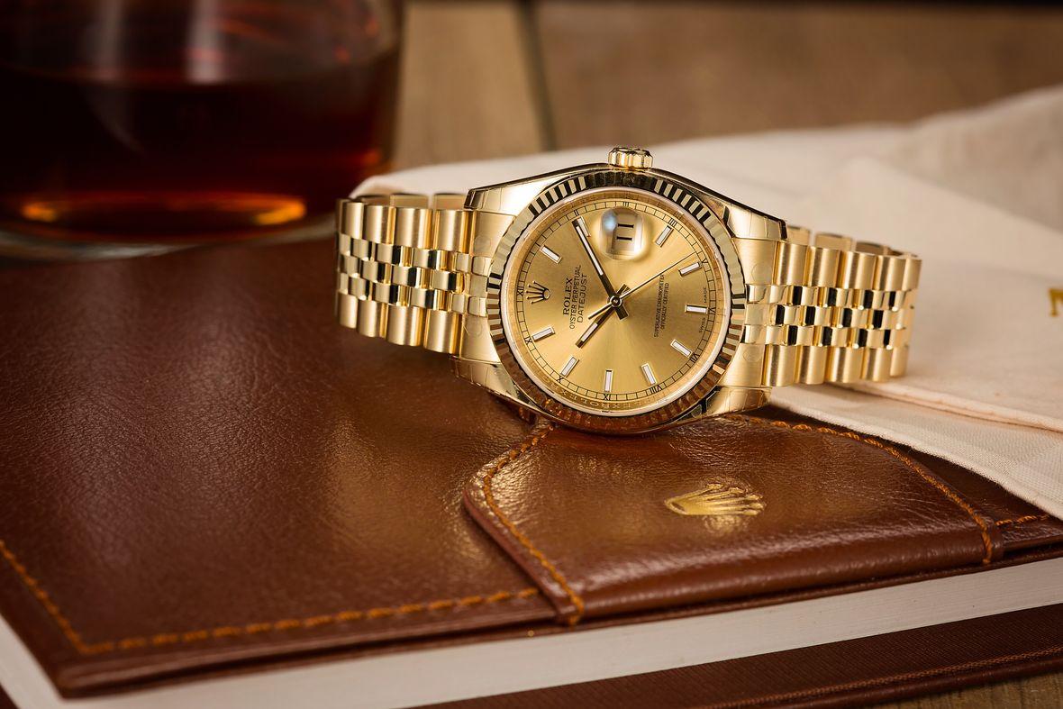 Rolex 116238 Datejust 36mm 18k Yellow Gold