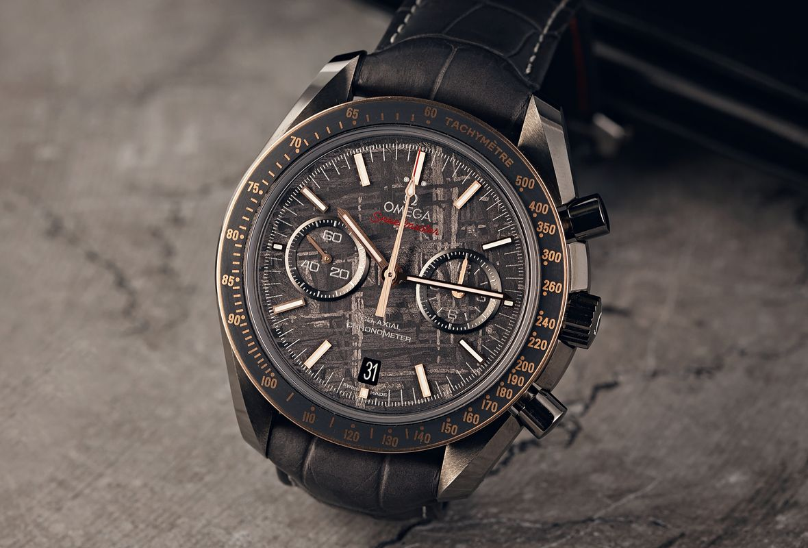 Omega Watches 78th Golden Globes Speedmaster Grey Side of the Moon Meteorite Dial