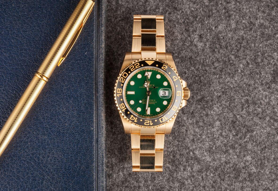 Green Rolex GMT-Master II 116718LN
