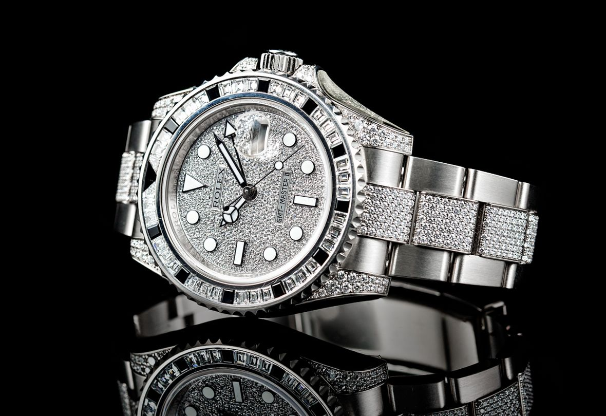 Iced Out Rolex Diamond GMT-Master II