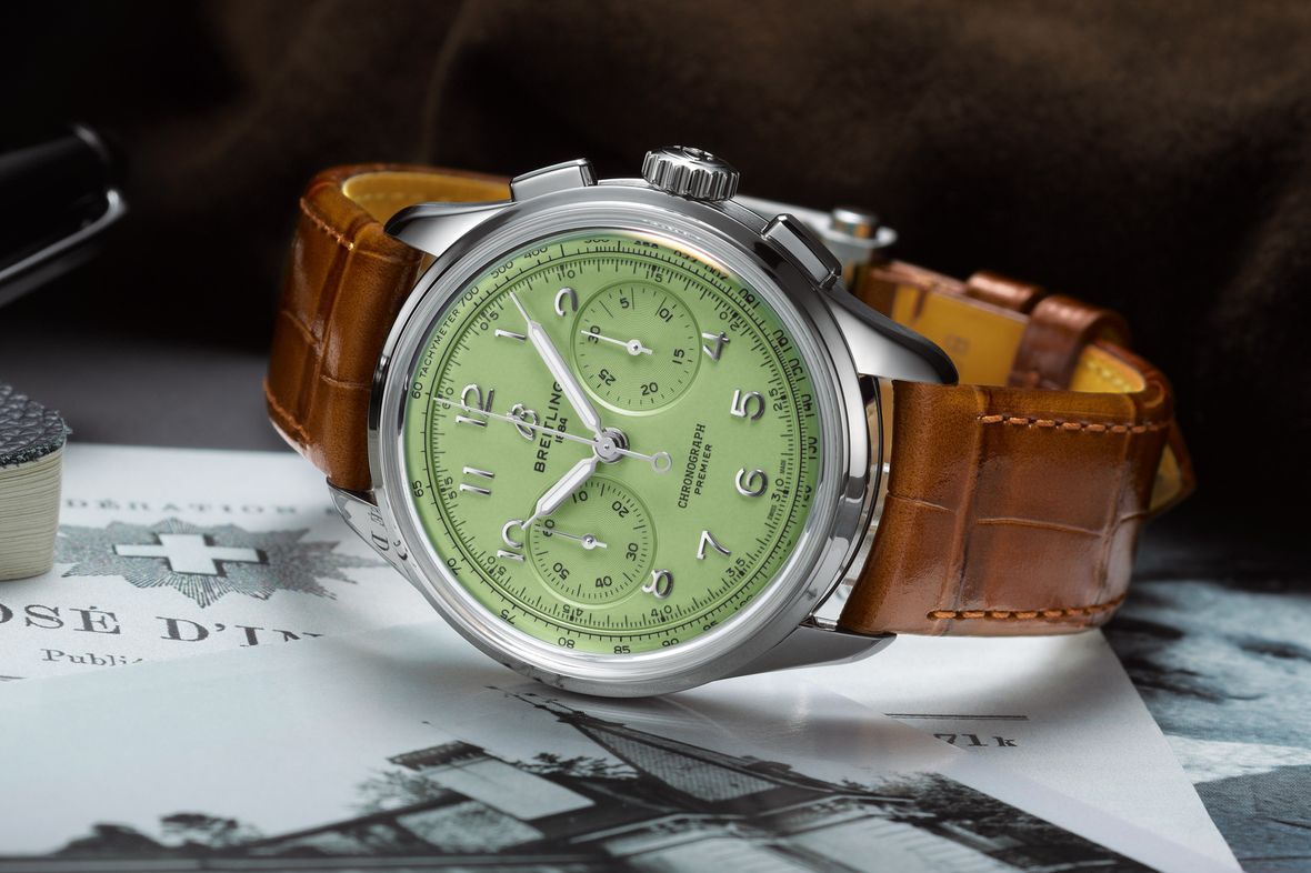 Breitling Premier Heritage B09 Chronograph Green Dial