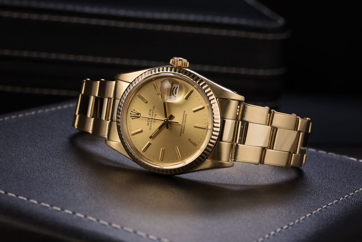 Yellow Gold Rolex Date