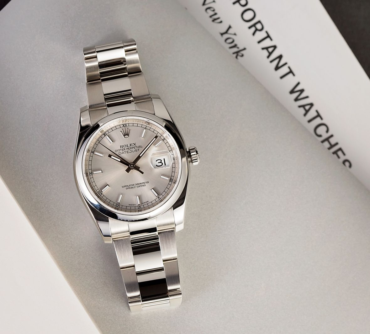Rolex 116200 Datejust 36 Silver Dial Oyster Bracelet