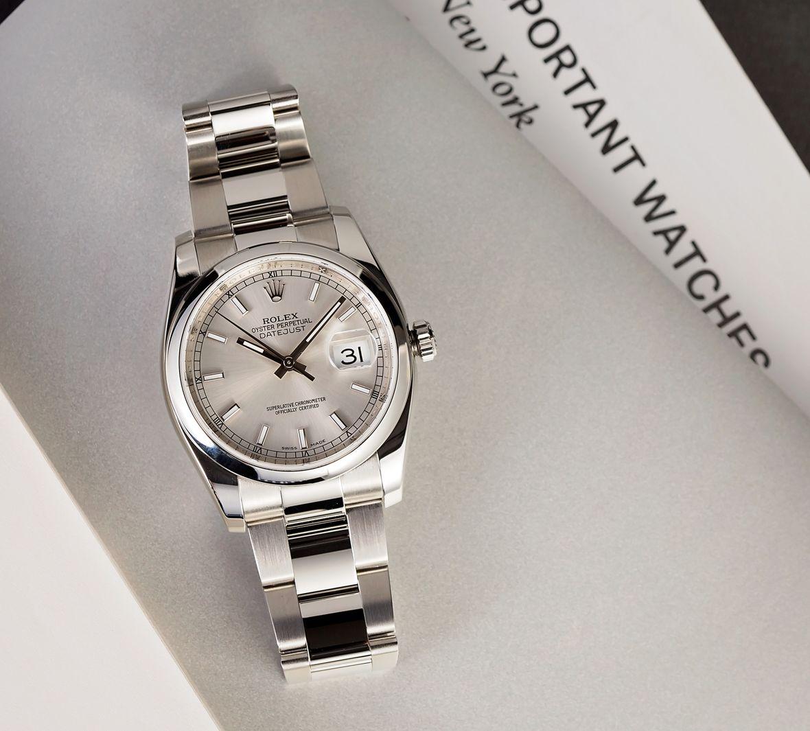 Rolex 116200 Datejust 36 Silver Dial Oyster Bracelet