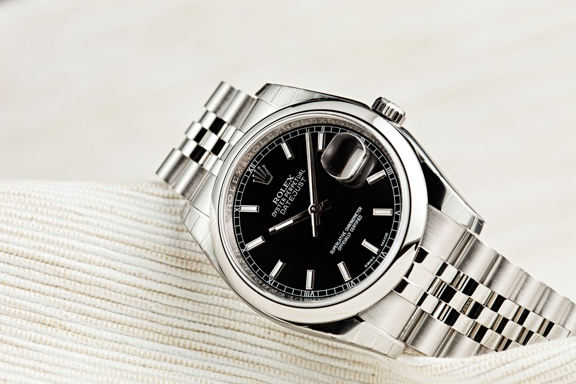 Rolex 116200 Datejust Black Dial Stainless Steel 36mm
