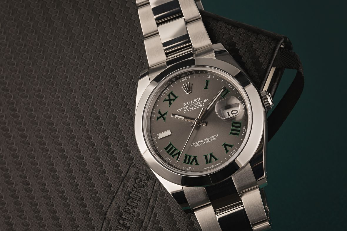 Rolex 126300 Datejust 41 Slate Wimbledon Dial Stainless Steel