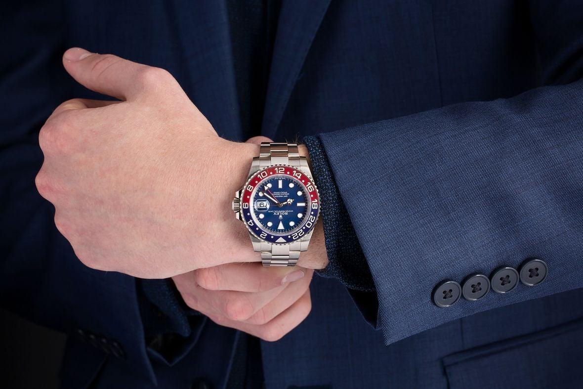 Rolex 126719BLRO White Gold Pepsi GMT-Master II Blue Dial Oyster Bracelet