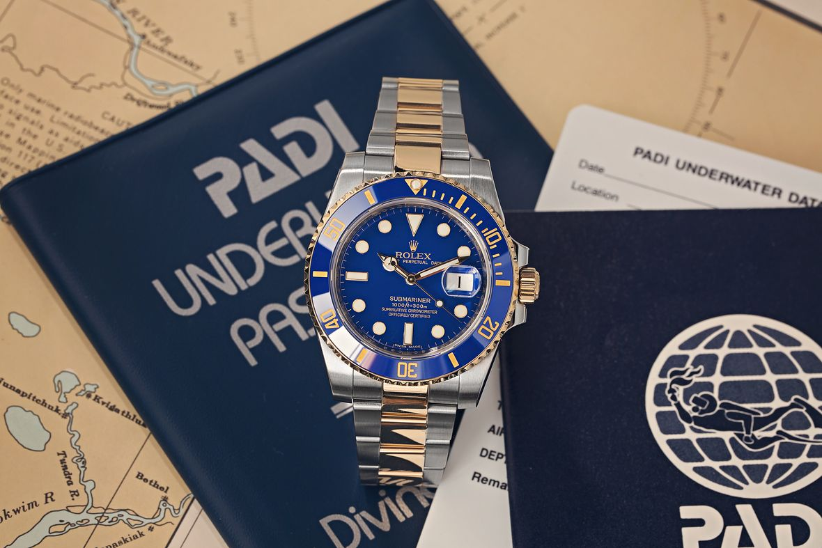 Rolex Submariner 116613LB Two-Tone Blue Hideki Matsuyama