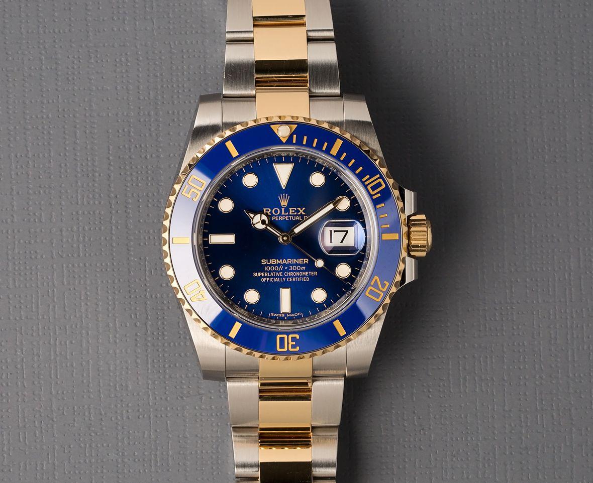 Rolex Submariner 116613LB Two-Tone Blue Hideki Matsuyama Masters