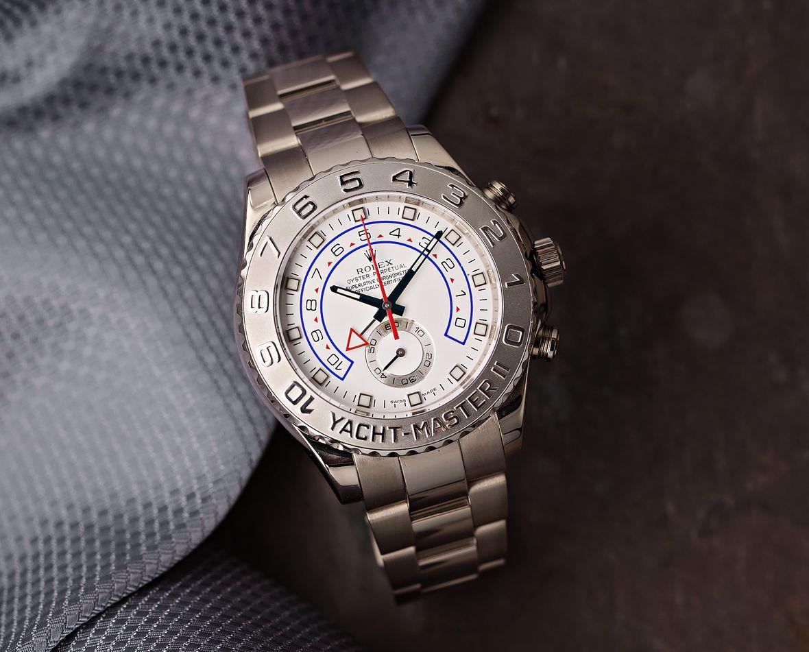 Rolex Yacht-Master II 116689 White Gold Platinum Bezel