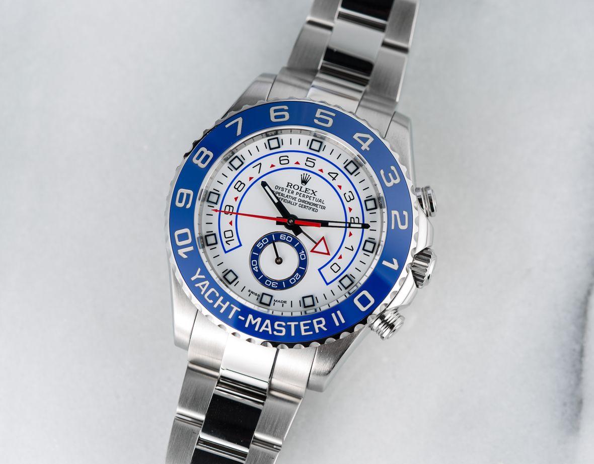Rolex Yacht-Master II Stainless Steel 116680 Blue Cerachrom Bezel