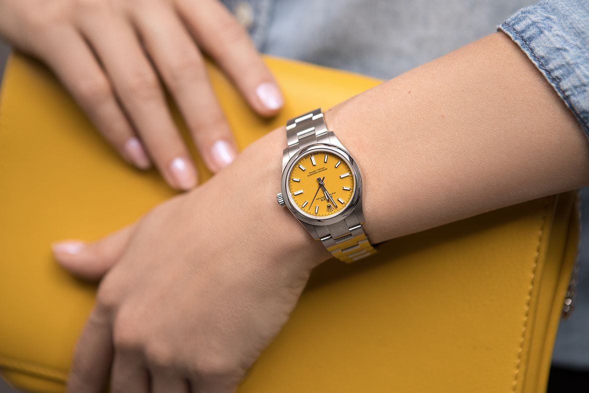 Rolex Oyster Perpetual 31 Yellow Stainless Steel 31mm
