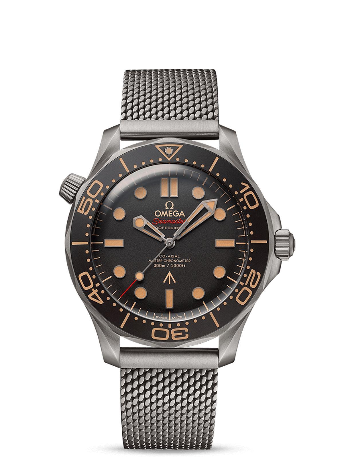 James Bond Omega Seamaster Titanium Diver 300M No Time to Die