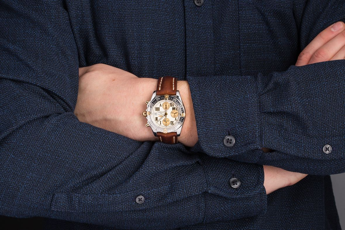 Breitling Chronomat Watch Two-Tone Steel and Gold
