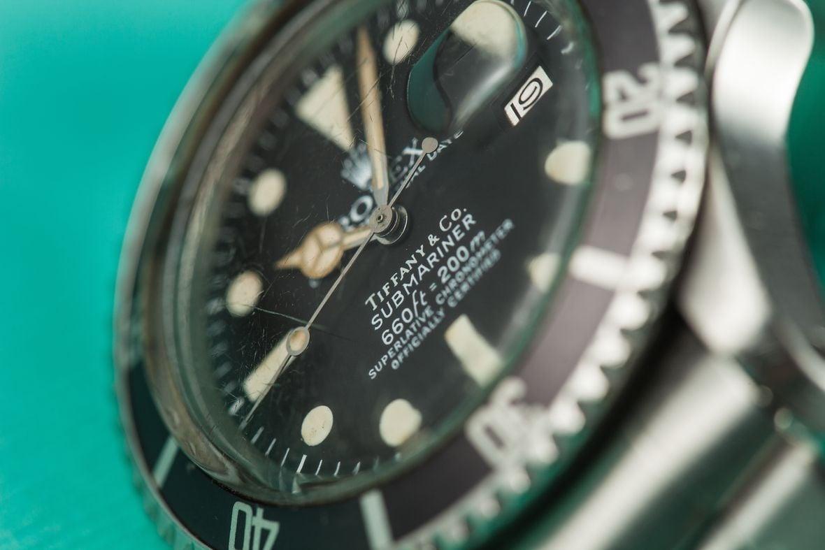 Vintage Rolex Tiffany Dials Stainless Steel Submariner Black 1680