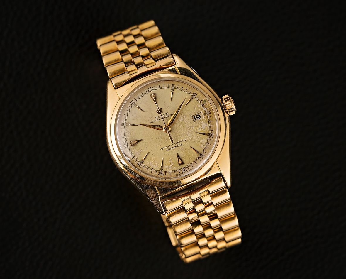 Vintage Rolex Oyster Perpetual Pre-Datejust Yellow Gold Mothers Day