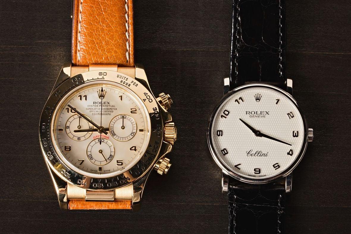 Rolex Daytona vs Rolex Cellini Gold Watch