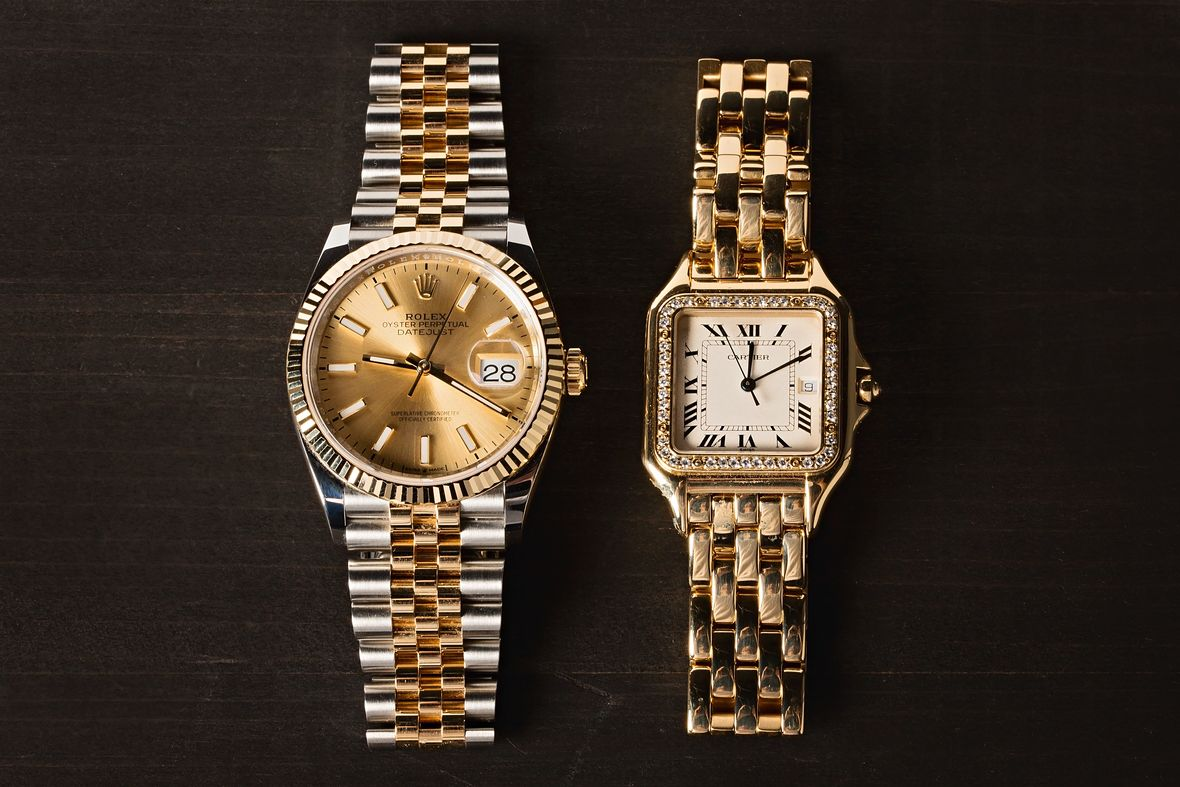 Rolex Datejust Two-Tone vs Cartier Panthere Gold