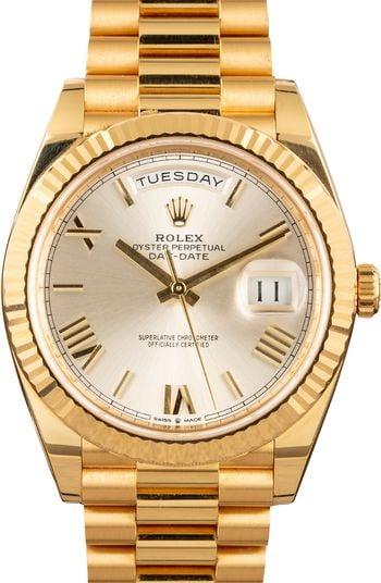 Jordan Clarkson Rolex Day-Date 40 Yellow Gold Roman Dial