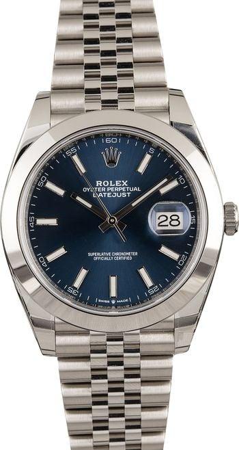 Rolex Datejust 41 126300 Blue Dial Stainless Steel Jubilee Bracelet