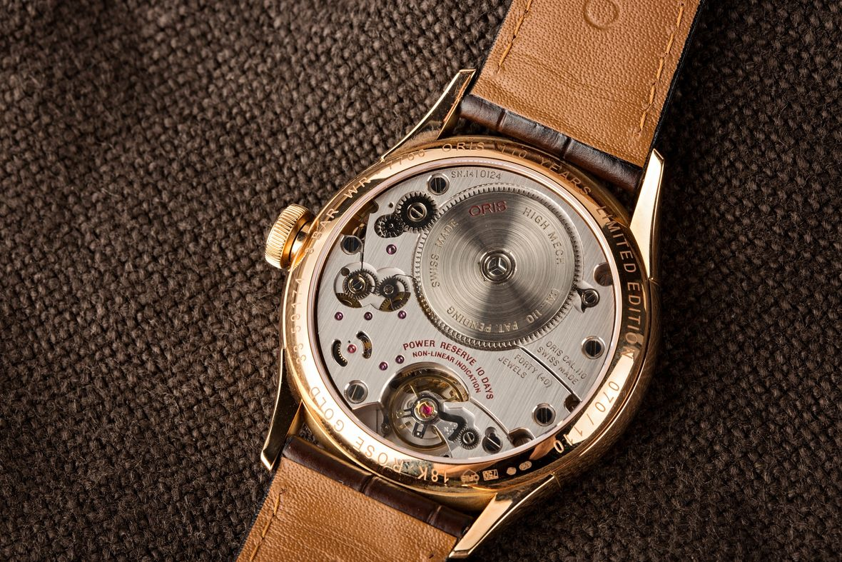 Gold Oris Artelier 110 Years Limited Edition Caliber 110 In-House Movement