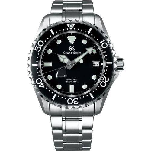 Grand Seiko Dive Watch SBGA229 Black Dial Stainless Steel