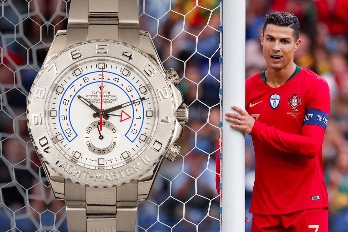 Cristiano Ronaldo Rolex Yacht-Master II Platinum 116689