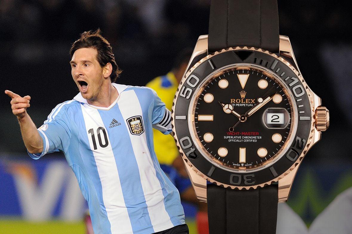 Lionel Messi Rolex Yacht-Master 40 Everose Gold Oysterflex