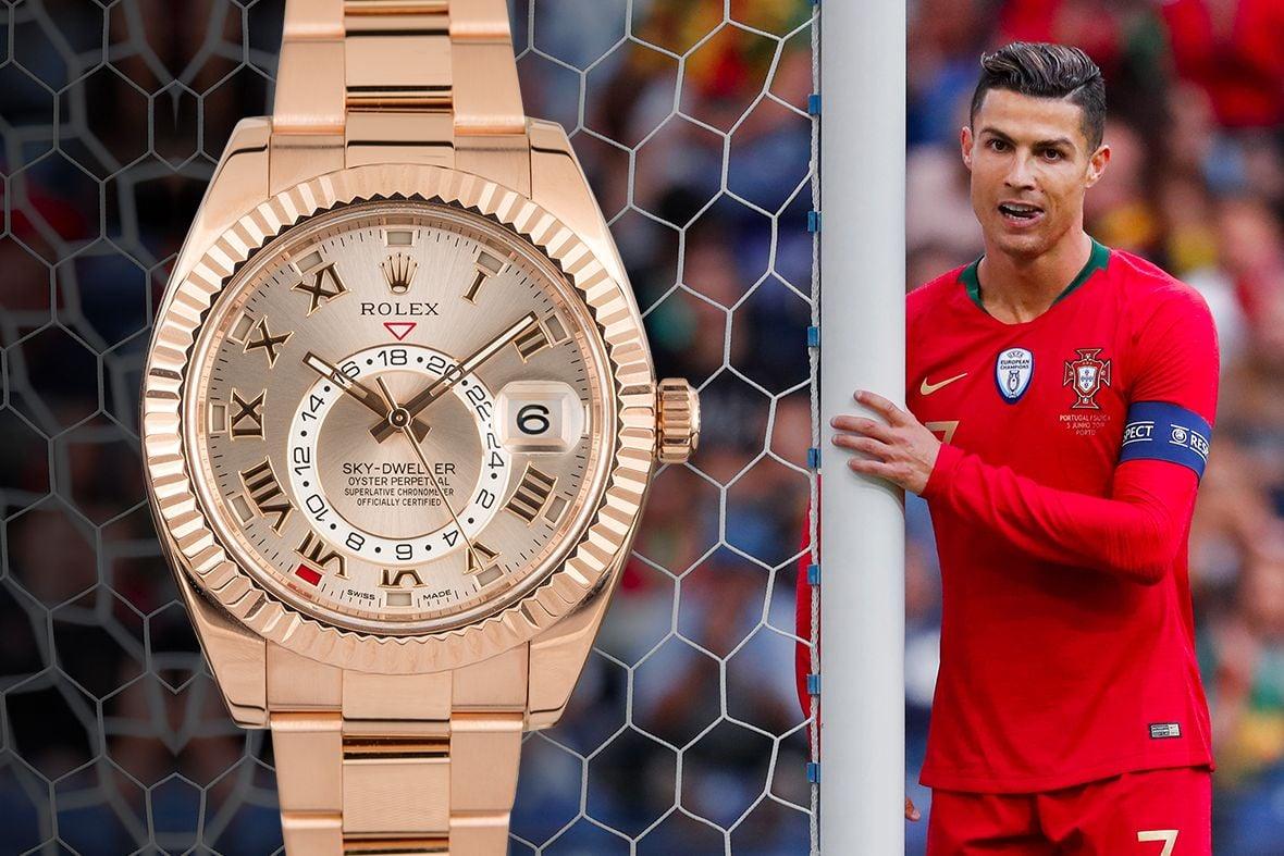 Cristiano Ronaldo Rolex Sky-Dweller Everose Gold