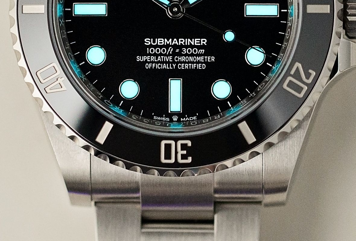 Rolex Submariner 41mm Reference 124060 Dial Coronet Insignia