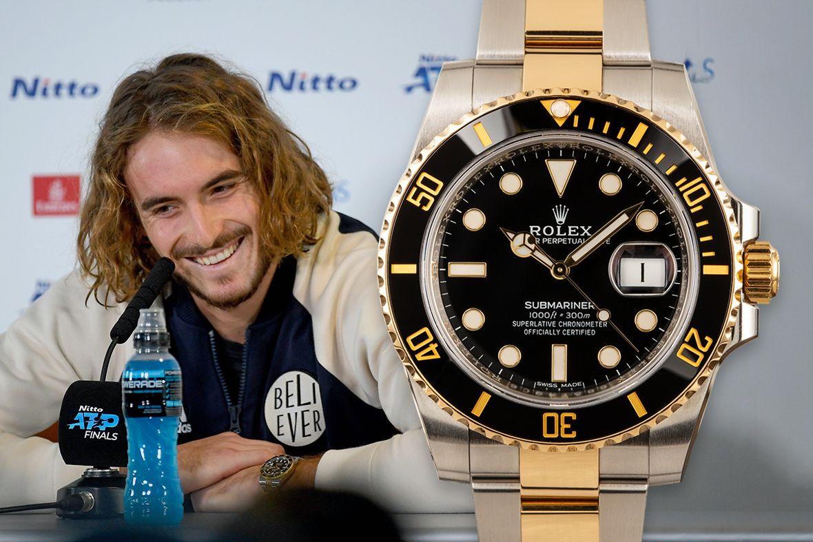 Stefanos Tsitsipas Rolex WatchesSubmariner Two-Tone Black