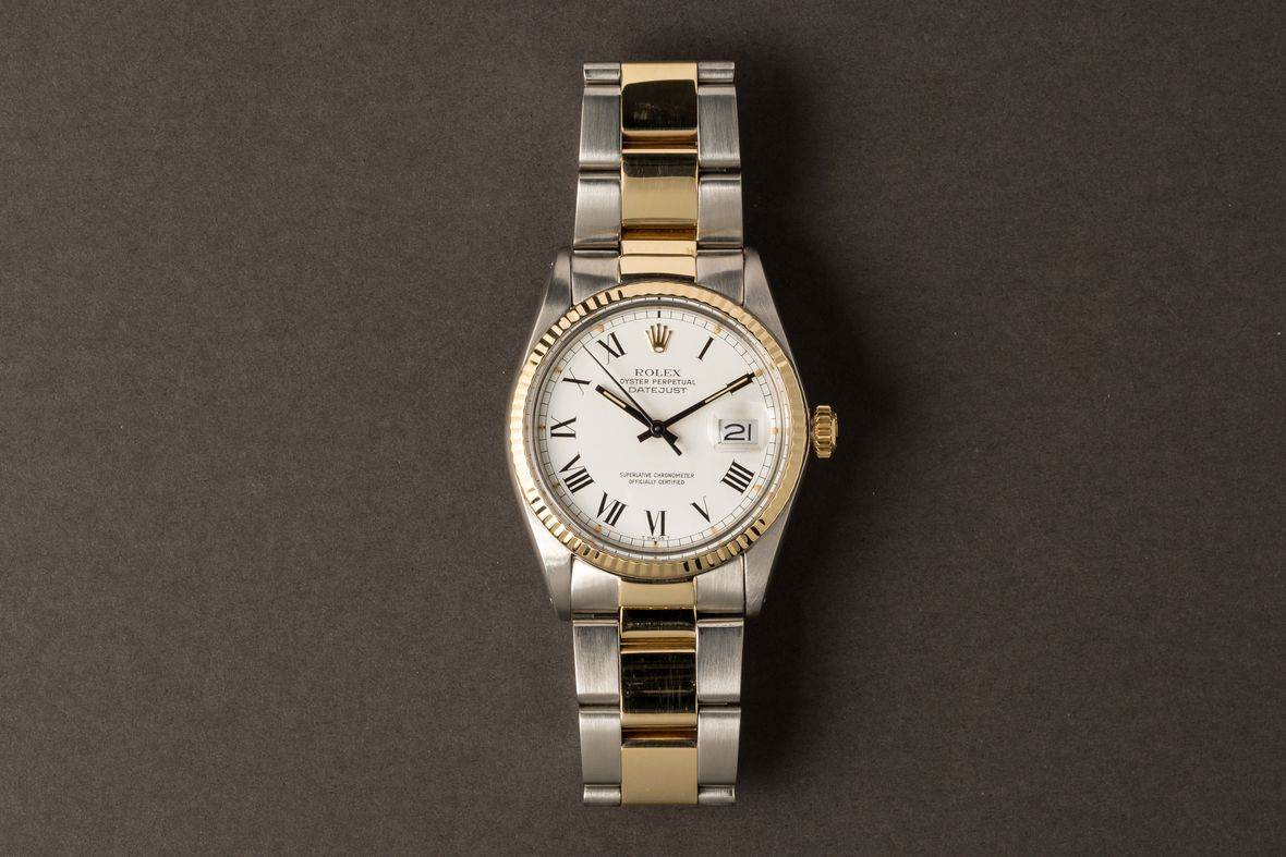 Rolex Datejust 36 Two-Tone 16013 Buckley Dial Oyster Bracelet