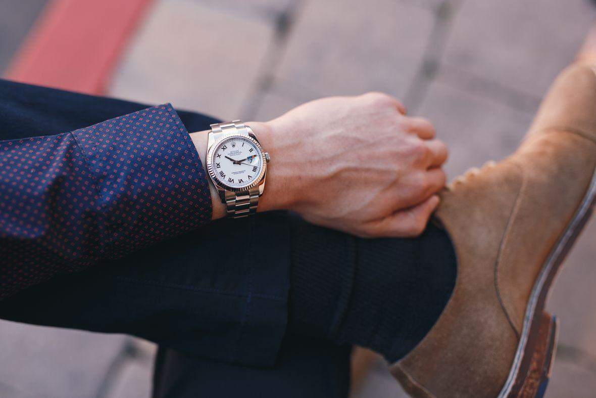 Rolex Datejust 36 Roman Dial 116234 Fluted Bezel