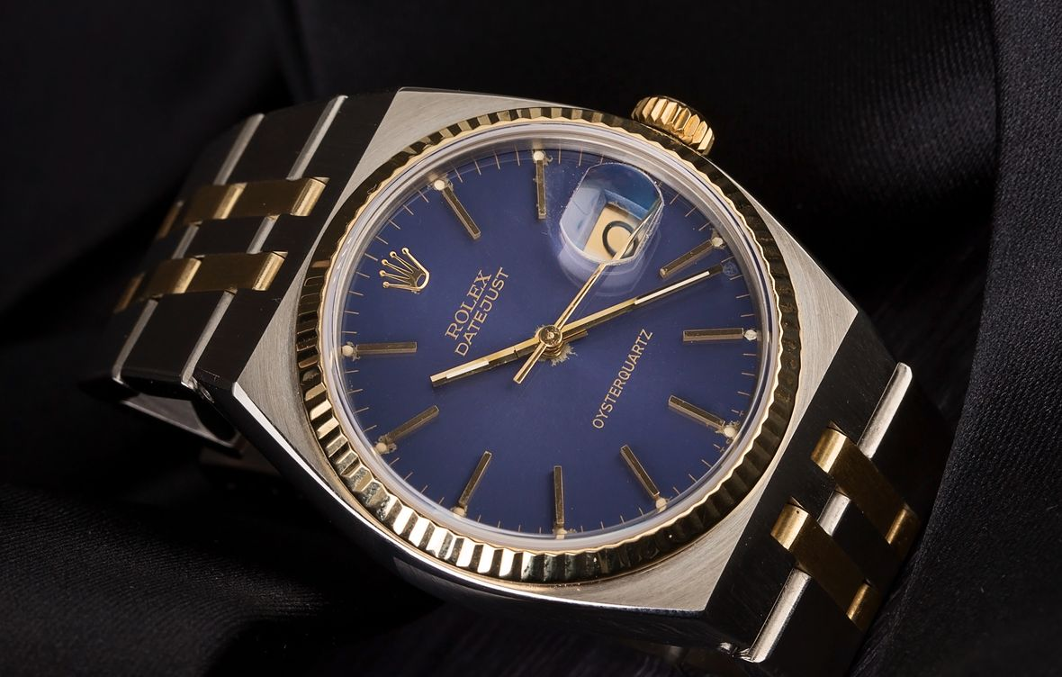 Rolex Oysterquartz Datejust Rolesor Blue Dial
