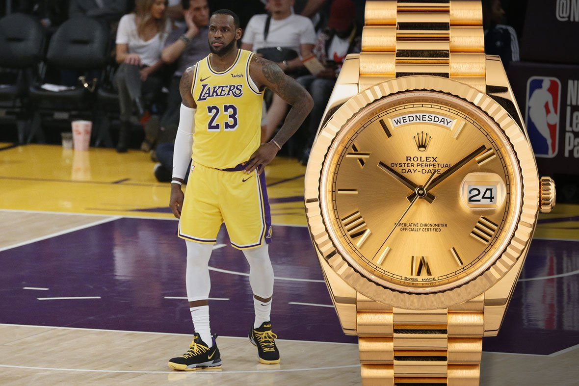 LeBron James Rolex Day-Date 40 Yellow Gold