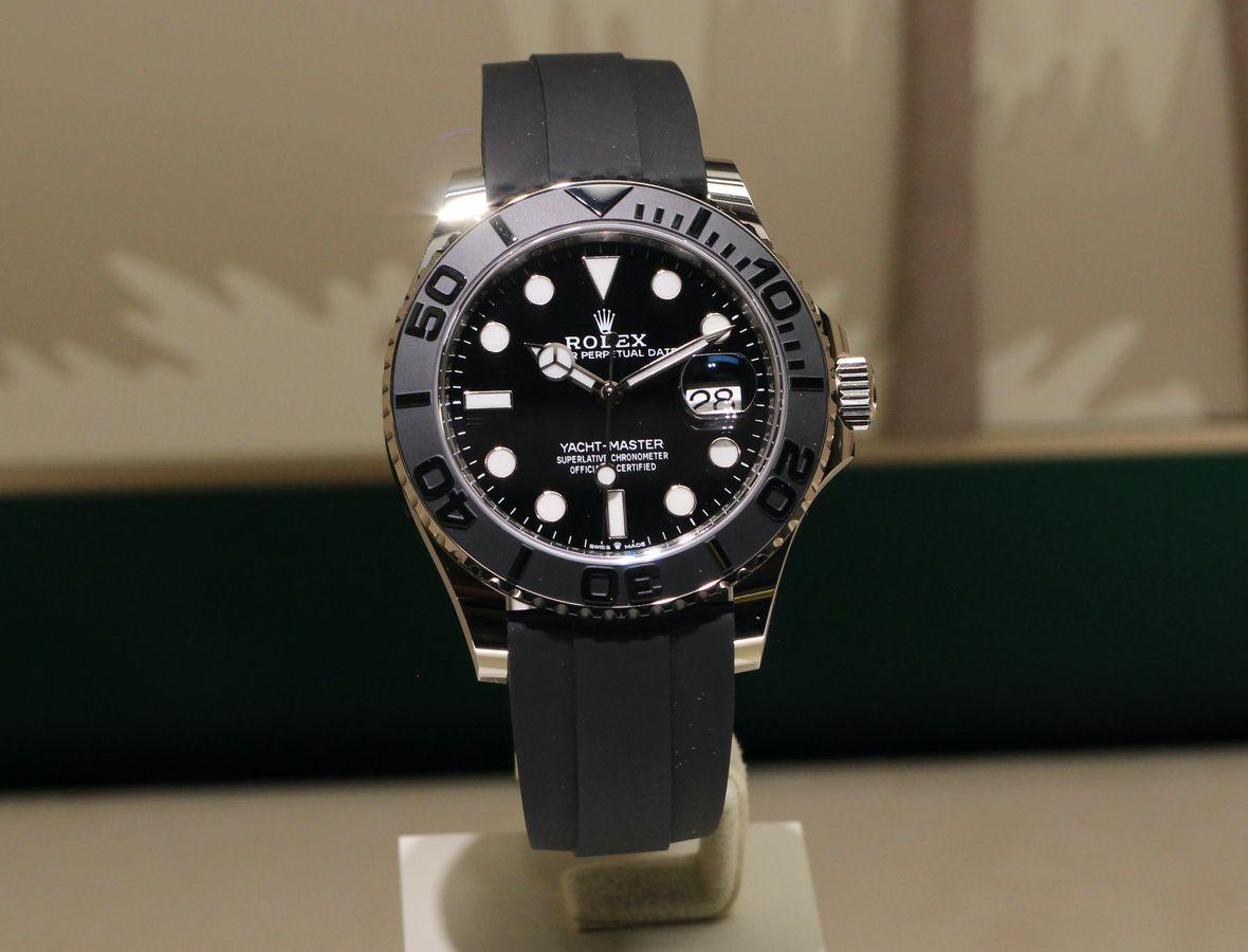 Rolex Yacht-Master 42 Oysterflex Bracelet White Gold Reference 226659