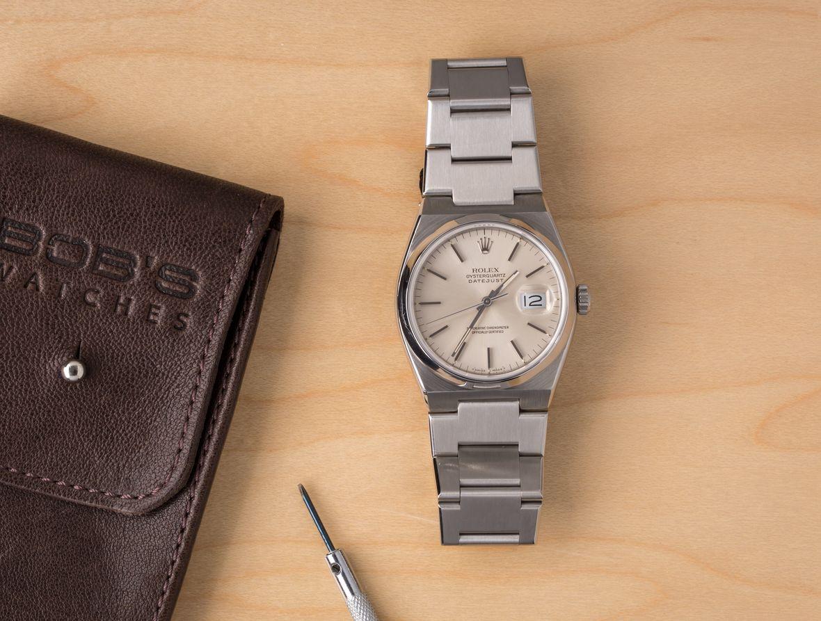 Rolex Oysterquartz Datejust Integrated Bracelet