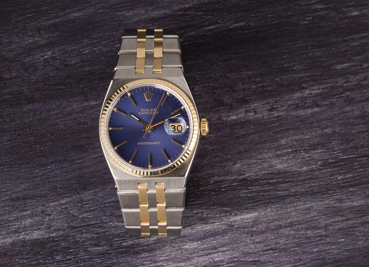 Rolex Oysterquartz Datejust Steel and Gold