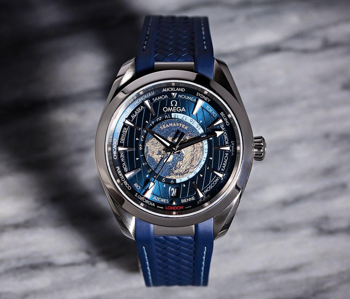 Omega Sports Watches Seamaster Aqua Terra GMT Worldtimer