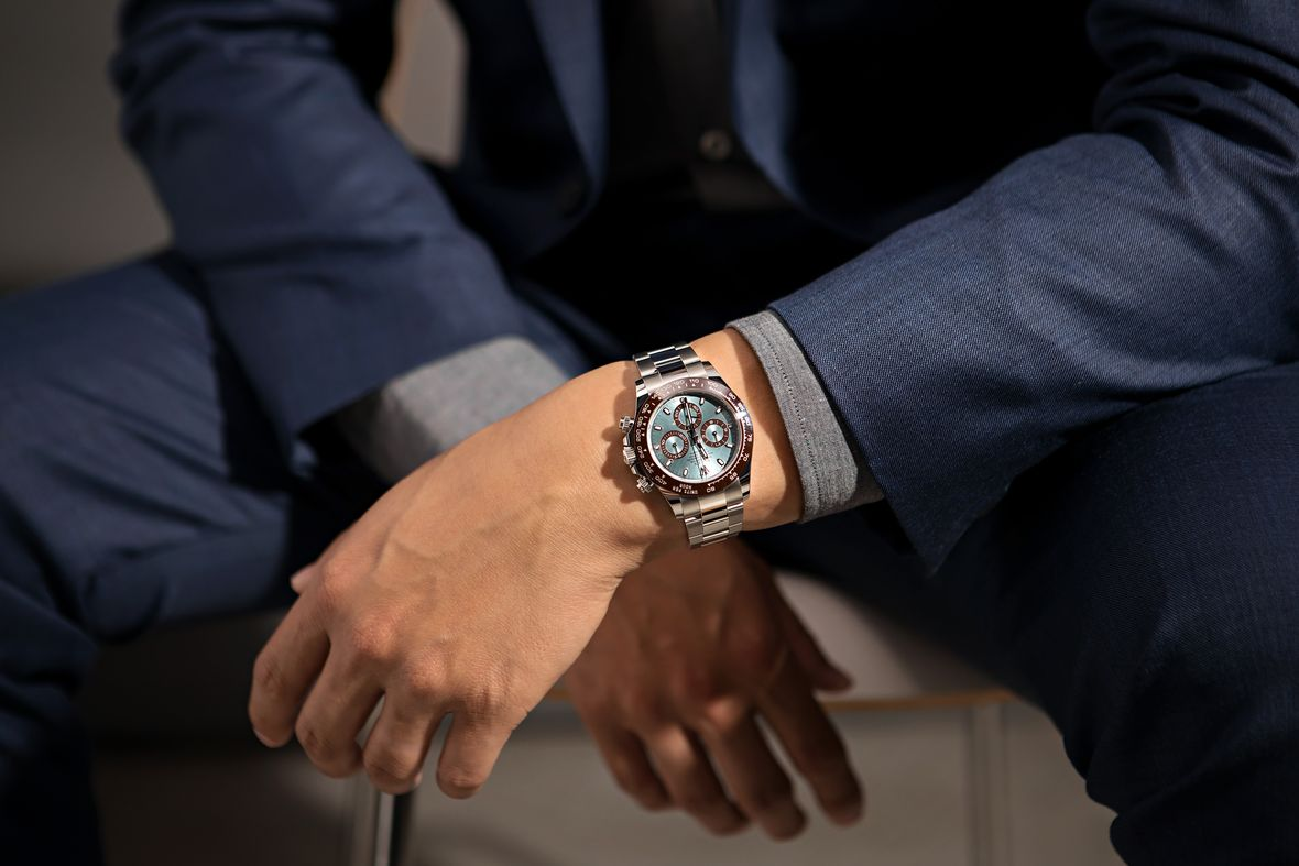 History of Rolex Watches Platinum Daytona Ice Blue Dial