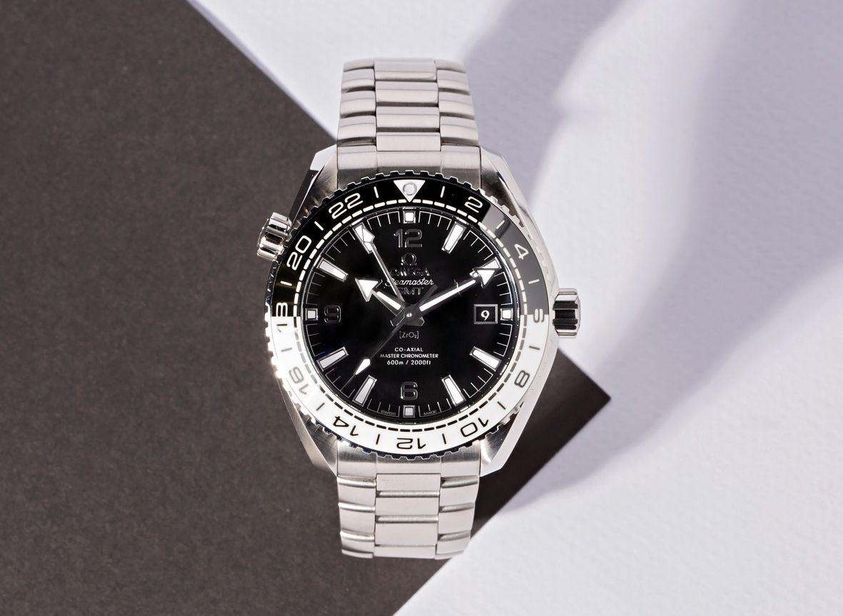Omega Planet Ocean 600M GMT Cookies and Cream