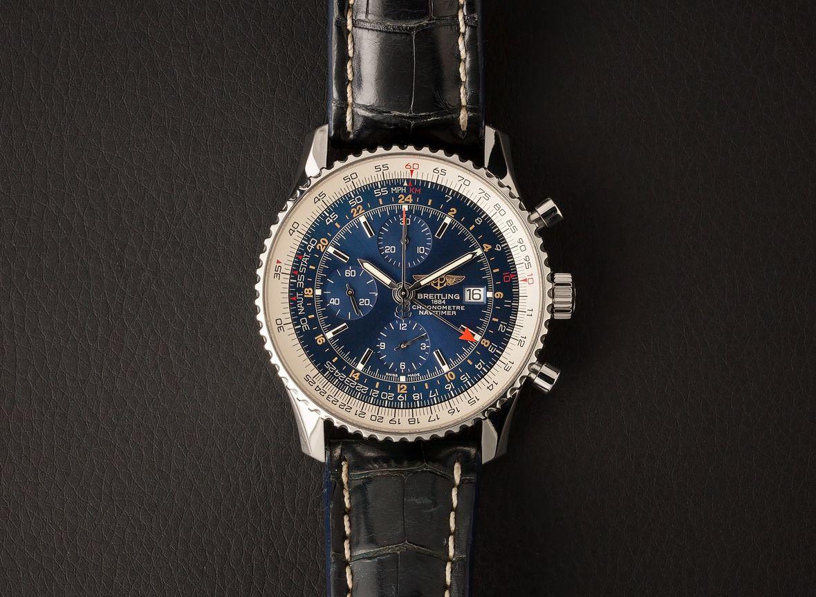 Breitling Navitimer World GMT Watch