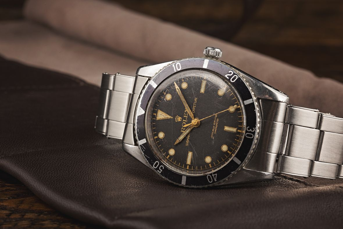 Vintage Rolex Submariner 6204 Stainless Steel