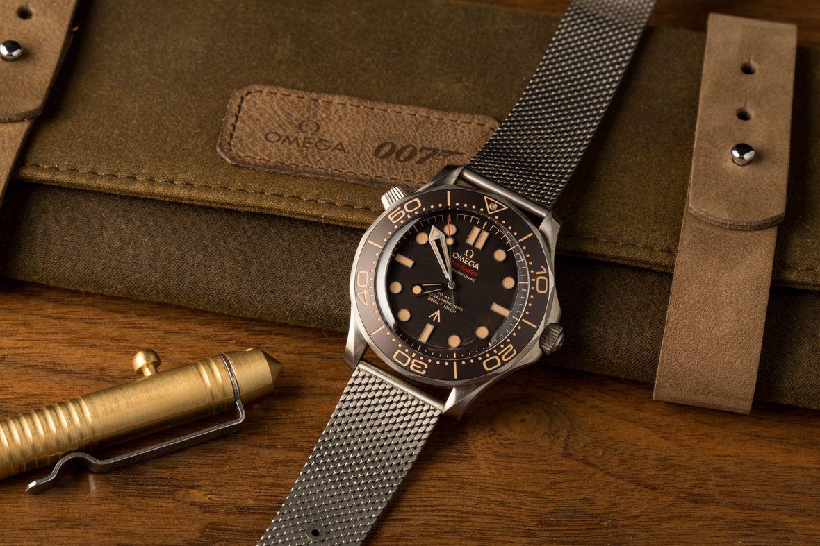 James Bond Omega Seamaster Diver 300M No Time to Die Titanium Mesh